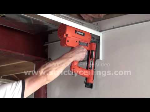 How To install A Suspended Ceiling (Wall angle installation)