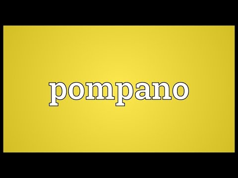 Pompano Meaning