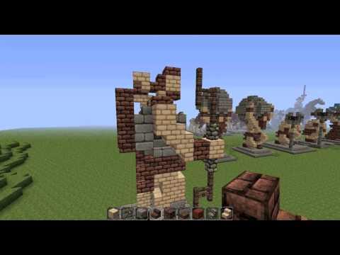 Minecraft Tutorials: Mythological Statues