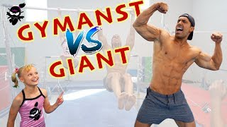 Download Gymnast vs Giant 3! Who is stronger, Payton or the Bodybuilder? Video