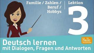 Download Deutsch lernen A1.1 / Lektion 3 / sich und andere vorstellen / Zahlen Video