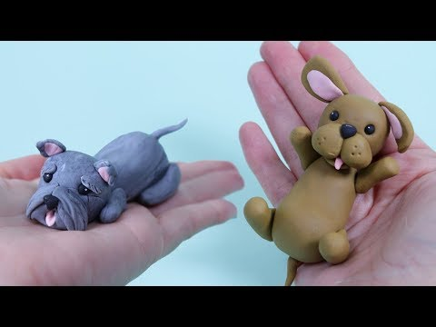 How To Make Fondant Dog Cake Topper / Cake Decorating For Beginners