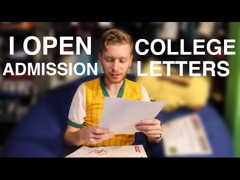 I Open College Admission Letters - Vlog 5