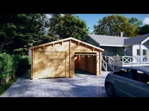 DIY Double Garage E with Up and Over Doors