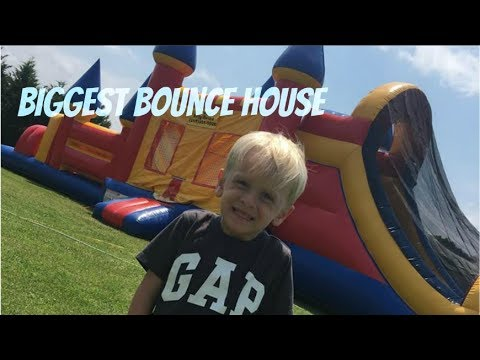 BIGGEST Bounce House EVER | Transformers Birthday Party