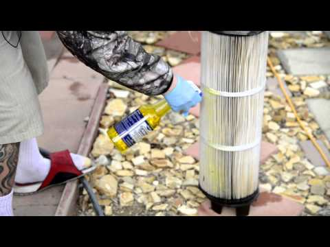 How to Clean a Pool Filter, Paper Cartridge, Sand, DE - Bio Dex M2000, Concentrated Cartridge