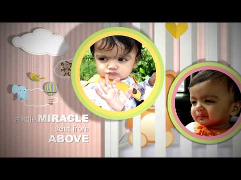 Birthday Invitation Video for Baby Girl || Pink Theme