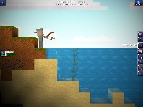 The Blockheads: How to use the fishing rod