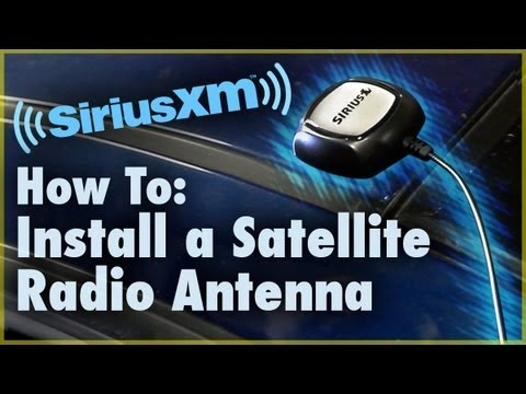 How to Install a Satellite Radio Antenna (Car Stereo) | Car Audio 101
