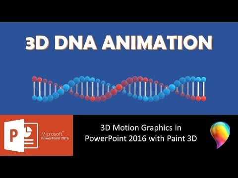 3D DNA Animation Effect in PowerPoint 2016 with Paint 3D Tutorial | The Teacher