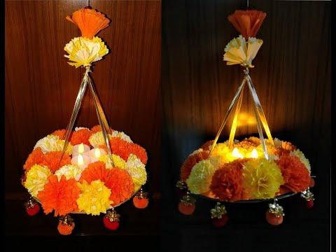Diy how to make beautiful paper hanging decoration