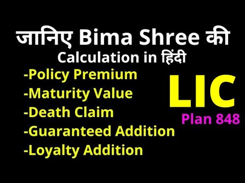 Bima Shree Premium, Maturity Value, Guaranteed Addition, Loyalty Addition, Death Claim Calculation