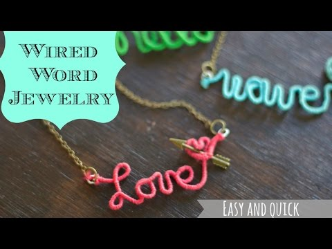 DIY wire name necklace, make this Anthropologie Knock off for $8