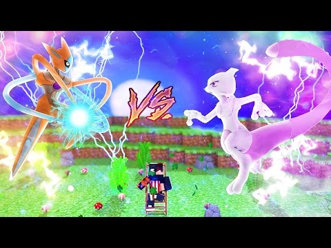 Minecraft: DEOXYS VS MEWTWO - VS POKEMON ⚔  (Novo Pixelmon) ‹ Ine ›