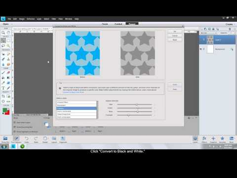 Convert to Black and White in Photoshop Elements 11