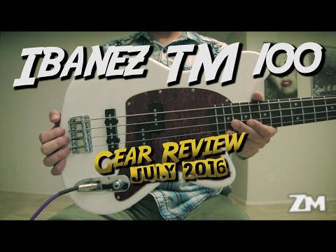 Gear Review - Ibanez TMB 100 Active EQ Bass - Best bass under $200! - (Only $150!!)