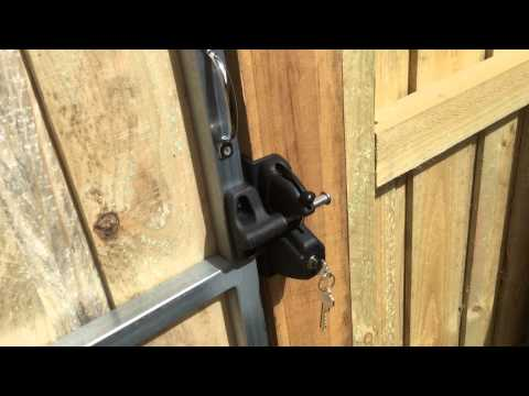 Paling fence with exposed posts and capping. Double gates and single gate part 2