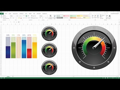 Creating KPI Dashboard with gauges - Excel Dashboard Templates
