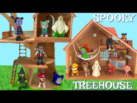 Paw Patrol Spooky Halloween Treehouse Cabin Treasure Hunt