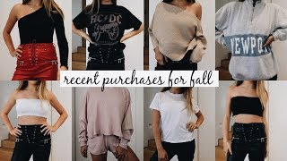 Transitioning into Fall Clothing Haul (TRY ON) l Olivia Jade