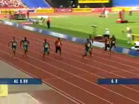 Asafa Powell Equal World Record 9.77