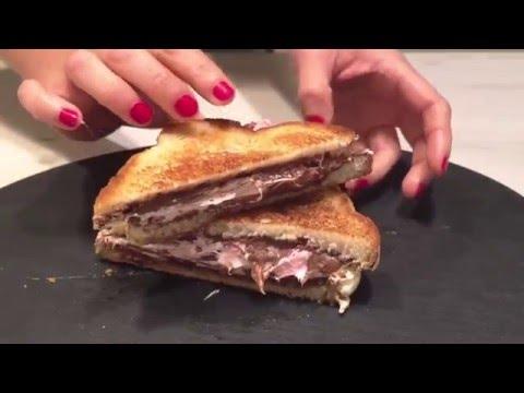 Sandwich de marshmallow y nutela