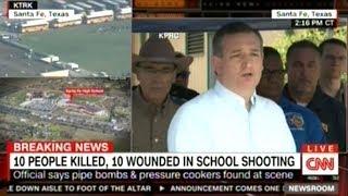 Senator Ted Cruz Joins Texas Governor For Press Conference On School Shooting