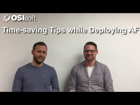OSIsoft Hands-on Lab: Time-saving Tips while Deploying PI AF