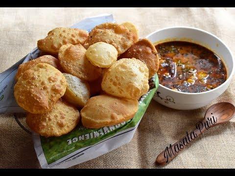 Choto Masala Puri | Small Masala Puri | Indian Fried Flat Small Masala Puri #335