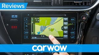 Toyota Auris 2018 infotainment and interior review | Mat Watson Reviews
