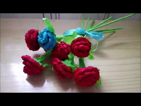 DIY How to make paper roses using newspaper tutorial
