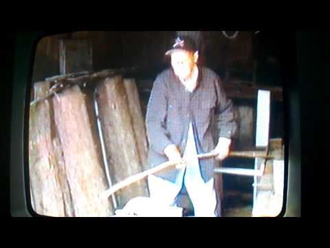 Clarence Spurgeon Making Wooden Barrel Hoops.