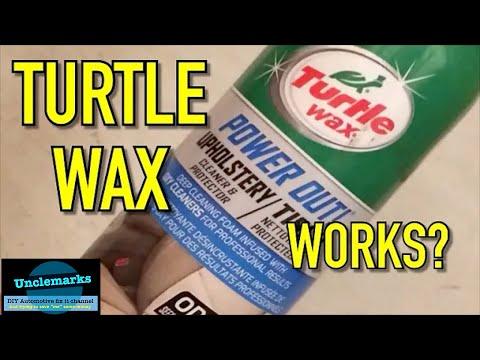 can turtle wax power out clean my  dirty seat ?