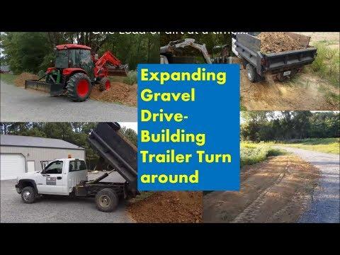 Expanding Driveway! Making Gravel Pad Bigger for Trailer turn around..