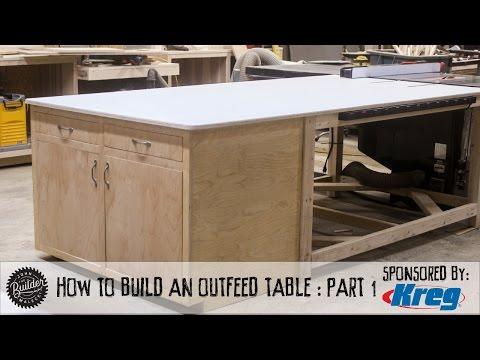 How To Make A Tablesaw Outfeed Table - Part 1