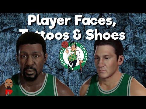 NBA 2K17 | 64-65 Boston Celtics | Player Faces, Tattoos & Shoes
