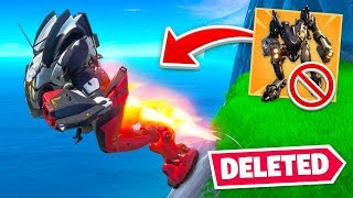 DELETING the MECH FROM FORTNITE