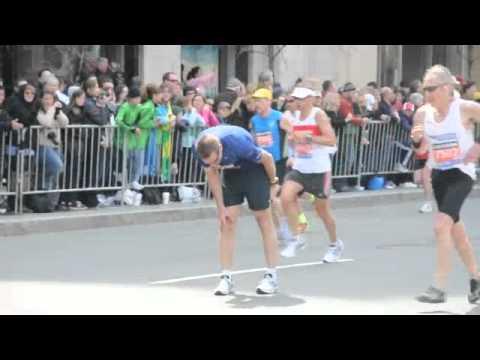 Almost at the Finish Line - Boston Marathon 2011