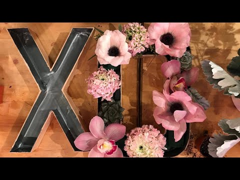 You Know Yes, You CAN DIY Your Own *Custom* Floral Letters