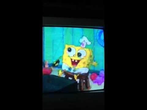 Spongebob's first krabby patty