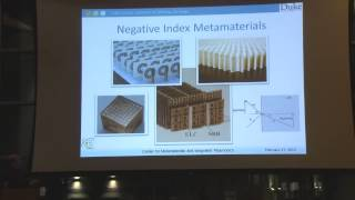 David Smith - Metamaterials Talk 2013