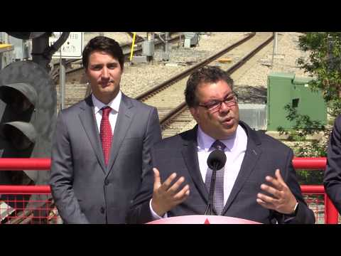 [RAW COVERAGE] Federal Government confirms Green Line LRT Funding