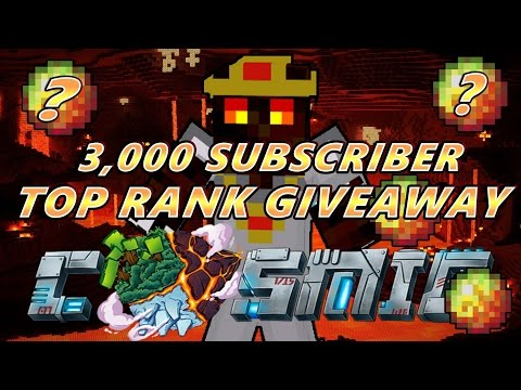 3,000 Subscriber Top Rank Giveaway!!! - CosmicPvP (Ended)