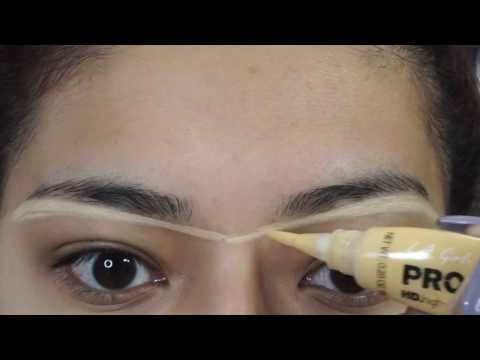 BEAUTY HACK FOR EYEBROWS Using L.A Girl Products - Alexisjayda