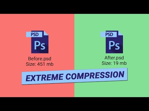 How to reduce/compress file size of a heavy Photoshop (.psd) files for sharing