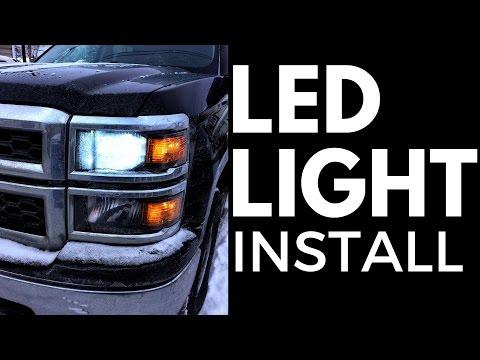 2014 Silverado LED headlight install