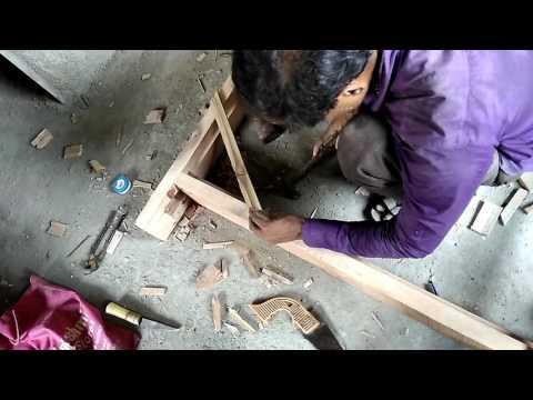 Wooden door frame making