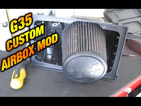 Custom Stock Air Box Mod - G35, 350z, 350gt ,FX35