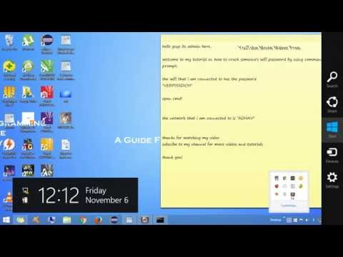 How to crack the password of someone else's wifi using cmd on windows 8