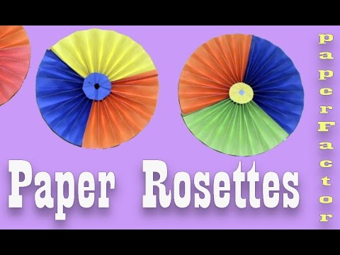 Paper Crafts - How to make Paper ROSETTES | Paper Pinwheels Backdrop for Decoration |Tutorial